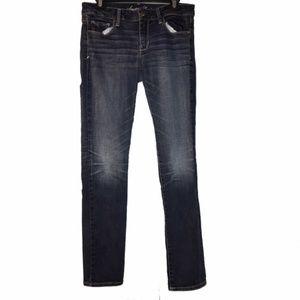 AEO | dark wash fade skinny jeans